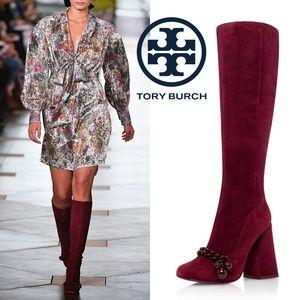 🆕Tory Burch Addison95mm Boot Suede Heel Knee High